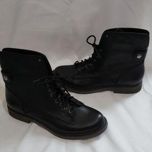 NIB Lucky Brand Blake Black Leather Boots Size 8